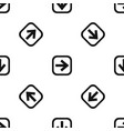 arrow in square pattern seamless black vector image vector image