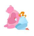 batoys concept mature woman hug huge pink vector image