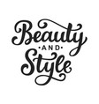 Beauty and style logo with hand lettering