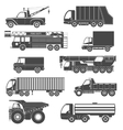 Black Silhouettes Truck Icons vector image vector image