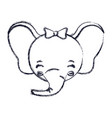 blurred silhouette face of female elephant animal vector image vector image