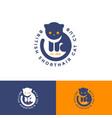 british cat club cute dark cat yellow eyes vector image