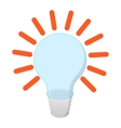Bulb with idea cartoon icon vector image vector image
