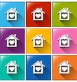 Buttons with a home vector image vector image