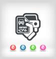car contract icon vector image vector image