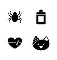 cat treatment vet simple related icons vector image