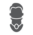cervical collar glyph icon orthopedic and medical vector image vector image