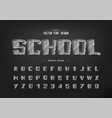 chalk cartoon font and sketch alphabet hand draw vector image vector image