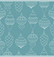 christmas seamless pattern with christms balls vector image vector image