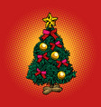 christmas tree new year holidays vector image