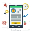 concept mobile online shopping vector image vector image