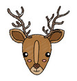 cute and tender reindeer vector image vector image