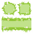 cute decorative frames set green grass nature vector image