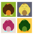cute little chick in cracked egg vector image vector image