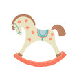 cute rocking horse kids first toys baby shower vector image vector image