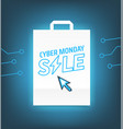 cyber monday sale concept vector image
