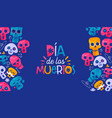 day dead mexican sugar skull spanish card vector image vector image