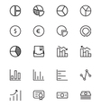 Finance Line Icons 11 vector image vector image