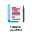financial statement icon concept vector image vector image