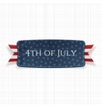 Fourth of July national Label vector image vector image