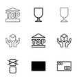 fragile icons vector image vector image