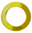 Frame gold ring vector image