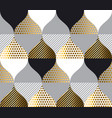 gold luxury geometry pattern vector image vector image