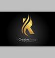 gold metal r letter design brush paint stroke on vector image vector image