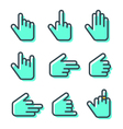 Hand cursor Icons pack Isolated Hand Cursor Icons vector image vector image