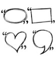 hand drawn doodle quotes boxes speech bubbles vector image