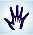 hand in hand rendering idea of help assistance vector image vector image