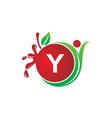 health fruit juice initial y vector image vector image