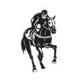 Horse Racing Equestrian Retro Woodcut vector image vector image