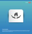 house security concept icon - blue sticker button vector image vector image