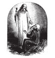 jesus giving communion vintage vector image vector image