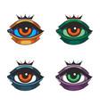 king eyes vector image vector image