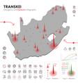 map transkei epidemic and quarantine emergency vector image vector image