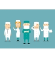 Medical professional occupation characters vector image