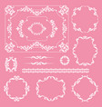 mega set collections vintage design elements vector image vector image