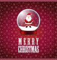 merry christmas santa claus snowflake background vector image