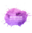 purple paint splatter background watercolor vector image vector image