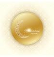 ramadan kareem text greetings background golden vector image vector image