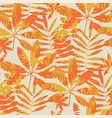 retro summer foliage seamless pattern vector image