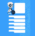 robot chatter bot modern chatbot service over vector image