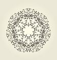 round vignette pattern - decorative mandala design vector image