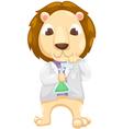 Scientist lion vector image vector image