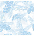 seamless winter christmas pine cones pattern vector image
