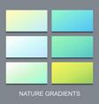 set natural gradients vector image