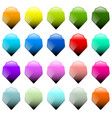 set of 16 shield shapes with different colors vector image