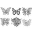 six butterflies vector image vector image